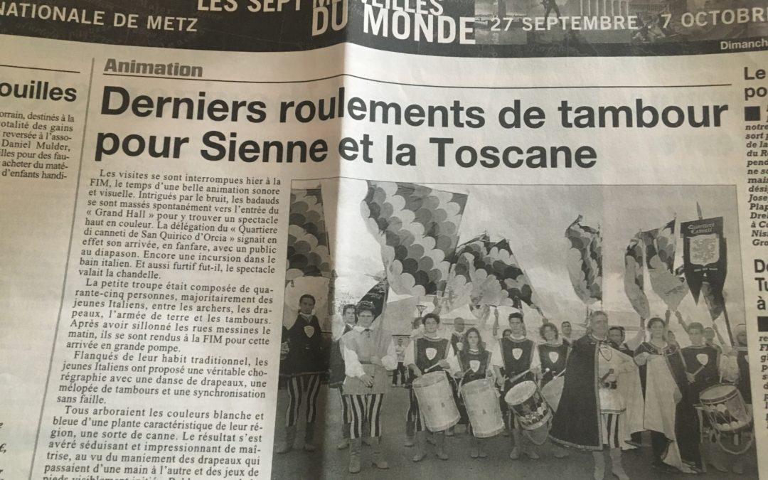 Fiera internazionale di Metz 2002 – Rassegna stampa francese