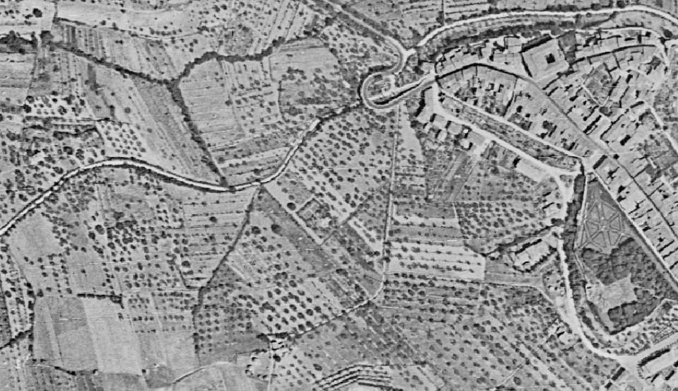 Qualche casa in Via dei Canneti e tanti campi coltivati. Ecco il nostro territorio prima della Festa del Barbarossa