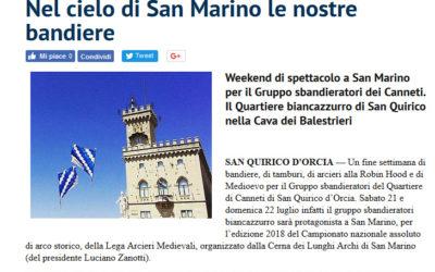 San Marino 2018 – La rassegna stampa