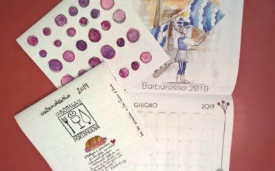Un calendario per chi ama San Quirico dalla Bottega di Portanuova. E a giugno ci sono i Canneti ad acquarelli