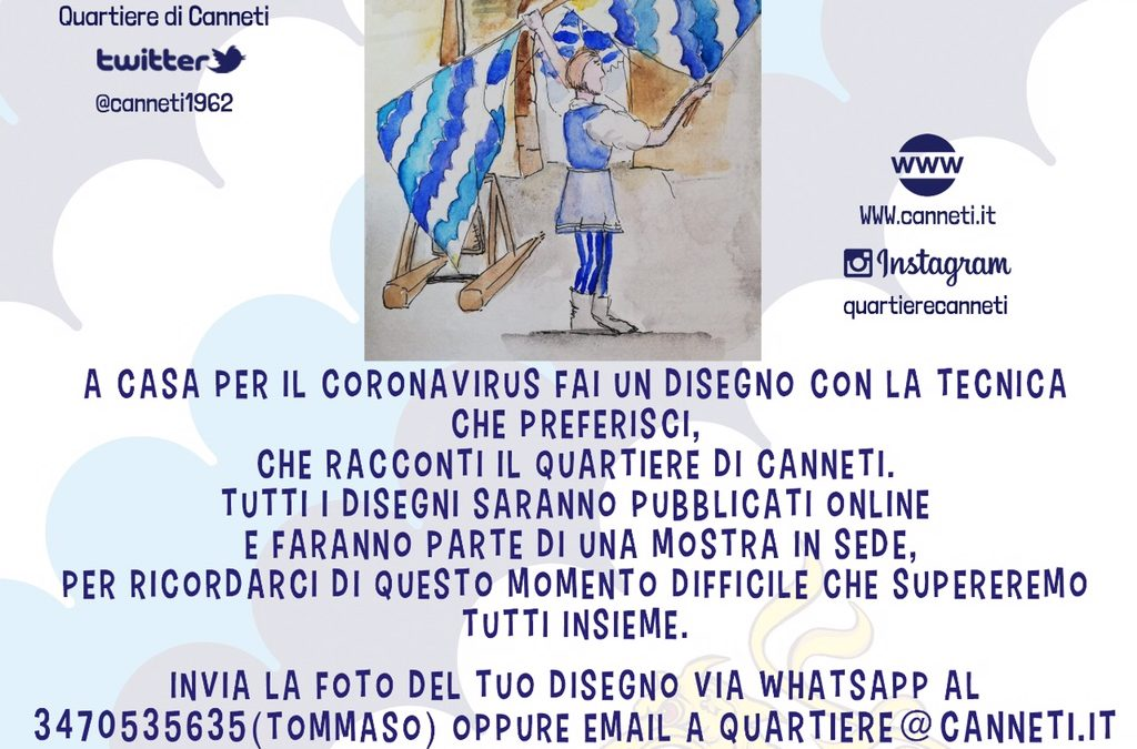 Disegno il mio Quartiere. Da venerdì 3 aprile #iorestoacasa e combatto il Coronavirus con un disegno dei Canneti