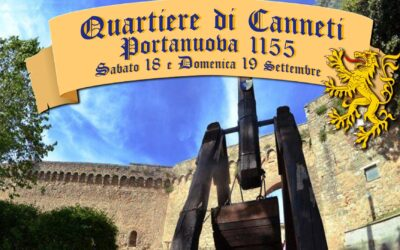 Ecco PORTANUOVA 1155, simbolo di ripartenza. Tornano a sventolare le bandiere dei Canneti il 18 e 19 settembre a San Quirico d'Orcia